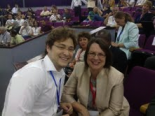 Dr. Eli Vinokur with Ms. Elizabeth Longworth