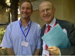 Dr. Gilad Shadmon with Mr. Wilfried Lemke